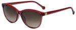 Carolina Herrera Designer Sunglasses SHE653-0W48 in Translucent Pink Plasticmm