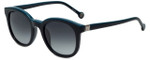 Carolina Herrera Designer Sunglasses SHE654-700K in Black Blue Plasticmm
