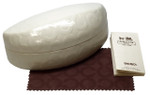 Coach Authentic Hard Clamshell Sunglass Case in White Size Large