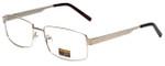 Gotham Style Designer Eyeglasses GS13 in Gold 58mm :: Custom Left & Right Lens