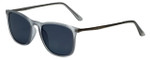 Lucky Brand Designer Sunglasses Alexander in Matte Grey with Grey Lens