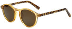 Lucky Brand Designer Sunglasses Baldwin in Yellow Crystal with Brown Lens