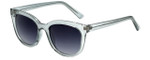 Lucky Brand Designer Sunglasses Newberry in Grey with Grey Gradient Lens