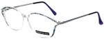 Meridian Designer Eyeglasses 8101-BLU in Clear Blue 55mm :: Custom Left & Right Lens