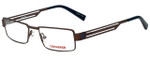 Converse Designer Eyeglasses K001 in Brown 47mm :: Rx Single Vision