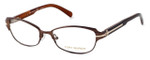 Tory Burch Designer Eyeglasses TY1028-345 in Taupe & Gold 50mm :: Rx Bi-Focal
