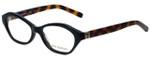 Tory Burch Designer Eyeglasses TY2044-1385-50 in Black Tortoise 50mm :: Progressive