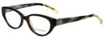 Tory Burch Designer Eyeglasses TY2021-1078 in Olive Horn 50mm :: Rx Bi-Focal