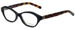Tory Burch Designer Eyeglasses TY2044-1385-50 in Black Tortoise 50mm :: Rx Bi-Focal