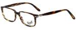 Persol Designer Eyeglasses PO3013V-938 in Green Striped Brown 51mm :: Custom Left & Right Lens