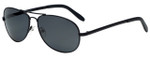 Vivid Polarized Sunglass Collection 781S in Matte-Black with Grey Lens
