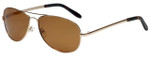 Vivid Polarized Aviator Sunglasses 781S in Gold with Amber Lens
