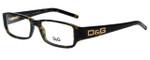 Dolce & Gabbana Designer Eyeglasses DD1132-502 in Havana 52mm :: Rx Bi-Focal