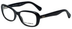 Dolce & Gabbana Designer Reading Glasses DD1247-501 in Black 52mm