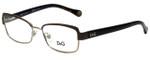 Dolce & Gabbana Designer Eyeglasses DD5102-1101-49 in Brown Pale Gold 49mm :: Custom Left & Right Lens
