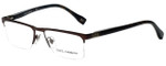 Dolce & Gabbana Designer Eyeglasses DD5104-152-50 in Brown 52mm :: Progressive