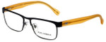 Dolce & Gabbana Designer Reading Glasses DD5103-194 in Matte Black Orange 54mm