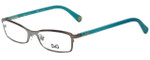 Dolce & Gabbana Designer Eyeglasses DD5089-1003 in Gunmetal Aqua 50mm :: Custom Left & Right Lens