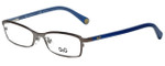 Dolce & Gabbana Designer Eyeglasses DD5089-1004-50 in Gunmetal/Blue 50mm :: Custom Left & Right Lens