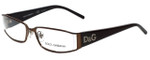 Dolce & Gabbana Designer Eyeglasses DD5010-099 in Brown 52mm :: Rx Single Vision