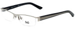Dolce & Gabbana Designer Eyeglasses DD5069-351-50 in Silver 50mm :: Rx Single Vision