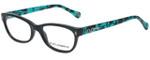 Dolce & Gabbana Designer Eyeglasses DD1205-1826-50 in Black Turquoise 50mm :: Progressive