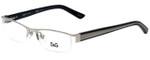 Dolce & Gabbana Designer Eyeglasses DD5069-351-50 in Silver 50mm :: Rx Bi-Focal