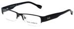 Dolce & Gabbana Designer Eyeglasses DD5074-064 in Black 50mm :: Rx Bi-Focal