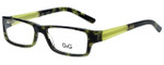 Dolce & Gabbana Designer Reading Glasses DD1181-977 in Green Tortoise 51mm