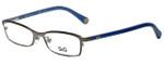 Dolce & Gabbana Designer Reading Glasses DD5089-1004-50 in Gunmetal/Blue 50mm