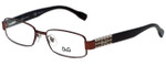 Dolce & Gabbana Designer Reading Glasses DD5092-1033-50 in Brown 50mm