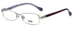 Dolce & Gabbana Designer Reading Glasses DD5096-1068 in Silver Purple 51mm