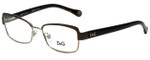 Dolce & Gabbana Designer Reading Glasses DD5102-1101-51 in Brown Pale Gold 51mm