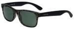 Timberland TB9063-98R Designer Polarized Sunglasses in Black Tortoise with Green Lens