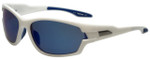 Timberland TB9070-21D Designer Polarized Sunglasses in White with Blue Mirror Lens