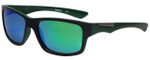 Timberland TB9078-98R Designer Polarized Sunglasses in Black Green with Green Mirror Lens
