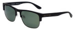 Timberland TB9091-02R Designer Polarized Sunglasses in Matte Black with Green Lens