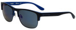 Timberland TB9091-91D Designer Polarized Sunglasses in Matte Black with Blue Flash Lens