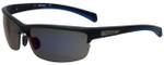 Timberland TB9103-02D Designer Polarized Sunglasses in Matte Black with Blue Flash Lens