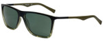 Timberland TB9108-55R Designer Polarized Sunglasses in Green Tortoise Fade with Green Lens