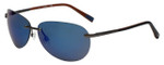 Timberland TB9117-09D Designer Polarized Sunglasses in Matte Gunmetal with Blue Flash Lens