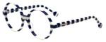Jonathan Adler Designer Eyeglasses Cote D'azur in Navy 54mm :: Rx Bi-Focal