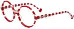 Jonathan Adler Designer Eyeglasses Cote D'azur in Red 54mm :: Custom Left & Right Lens