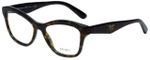 Prada Designer Eyeglasses VPR29R-8AK1O1 in Dark Havana 54mm :: Custom Left & Right Lens