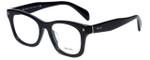 Prada Designer Eyeglasses VPR11S-1AB1O1 in Black 53mm :: Rx Single Vision