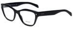 Prada Designer Eyeglasses VPR27S-1AB1O1 in Black 53mm :: Rx Single Vision