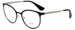 Prada Designer Eyeglasses VPR53T-1AB1O1 in Shiny Black 52mm :: Rx Single Vision