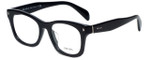 Prada Designer Eyeglasses VPR11S-1AB1O1 in Black 53mm :: Progressive