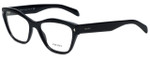 Prada Designer Eyeglasses VPR27S-1AB1O1 in Black 53mm :: Progressive