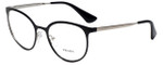 Prada Designer Eyeglasses VPR53T-1AB1O1 in Shiny Black 52mm :: Progressive